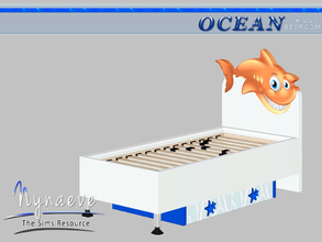 Sims 3 — Ocean Kids Bed Frame by NynaeveDesign — Ocean Kids Bedroom - Bed Frame Mix and Match it with the Ocean Kids