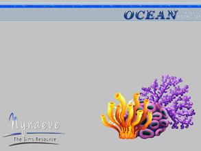 Sims 3 — Ocean Kids Wall Sticker by NynaeveDesign — Ocean Kids Bedroom - Coral Wall Sticker Located in: Decor - Paintings