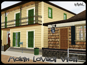 Sims 3 — Maison LaVeau Vodou by murfeel — Inspired by NOLA's real-life House of Voodoo shop and the Maison Vitry