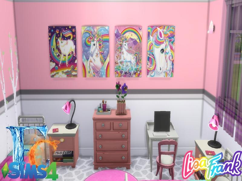 erickiacoleman\'s Lisa Frank Wall Art Set