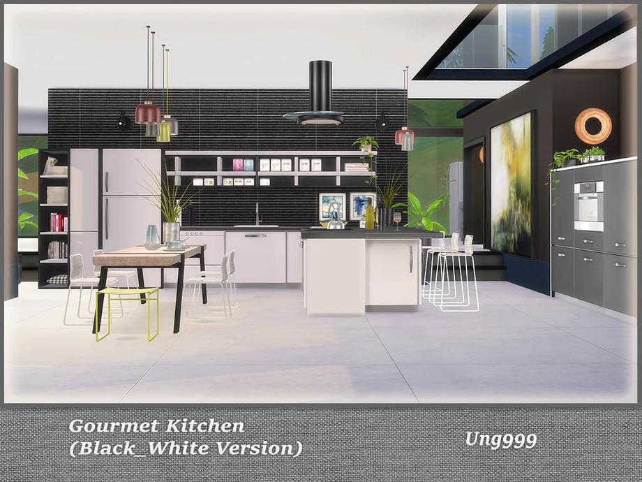 Ung999 S Gourmet Kitchen Black And White Version