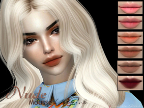Sims 4 — Nude Mousse Lipstick by Baarbiie-GiirL — - this lipstick works with ALL Skins - this set have 11 colors - looks