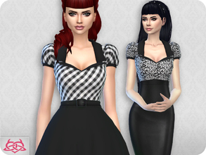 Sims 4 — Matilde blouse RECOLOR 2 (Needs mesh) by Colores_Urbanos — 15 colors Black and white Need mesh, look at