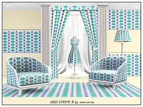 Sims 3 — Geo Stripe 5_marcorse by marcorse — Geometric pattern - geometric elements in a vertical striped design in pink