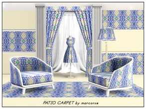 Sims 3 — Patio Carpet_marcorse by marcorse — Carpet pattern - textured floral indoor-outdoor carpet