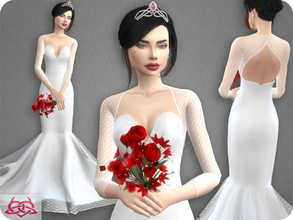 Sims 4 — Wedding Dress 8 RECOLOR 7 (Needs mesh) by Colores_Urbanos — 3 colors Need mesh, look at recommended. Your game