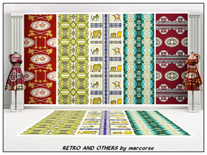Sims 3 — Retro and Others_marcorse by marcorse — Five Fabric patterns - including two retro wallpaper designs. [if you
