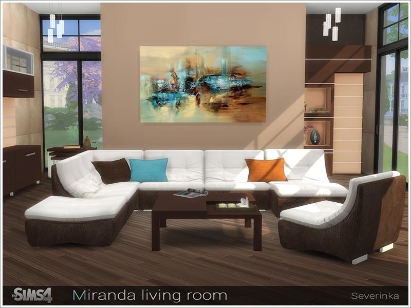Severinka 39 s miranda living room for 3 star living room chair sims