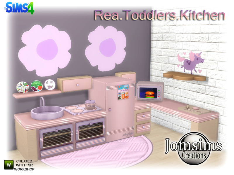 jomsims rea toddlers kitchen - Toddler Kitchen