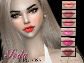 Sims 4 — Soda Lipgloss by Baarbiie-GiirL — - this lipgloss works with ALL Skins - this set have 16 colors (nude, red,