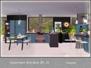 Sims 3 — Gourmet Kitchen Pt. II by ung999 — Part two of Gourmet Kitchen, this set has 14 objects: Cabinet (Deco Oven)