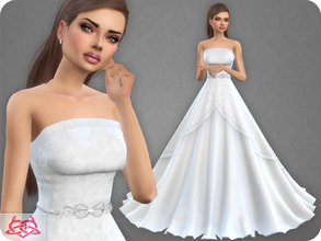 Sims 4 — Wedding Dress 9 RECOLOR 1 (Needs mesh) by Colores_Urbanos — 30 colors - Belt in recommended Need mesh, look at