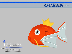 Sims 3 — Magikarp by NynaeveDesign — Ocean Toys - Magikarp Located in: Kids - Toys Price: 53 Tiles: 0.5x0.5 Re-colorable: