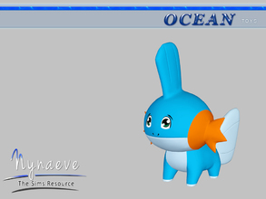 Sims 3 — Mudkip by NynaeveDesign — Ocean Toys - Mudkip Located in: Kids - Toys Price: 53 Tiles: 0.5x0.5 Re-colorable: yes