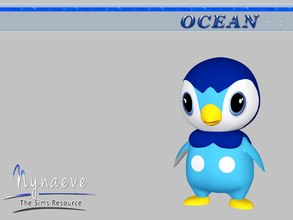Sims 3 — Piplup by NynaeveDesign — Ocean Toys - Piplup Located in: Kids - Toys Price: 53 Tiles: 0.5x0.5 Re-colorable: yes