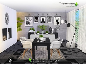 Sims 4 — Dual Channel by SIMcredible! — Simplicity and elegance are side by side to compose this room but also a pinch of