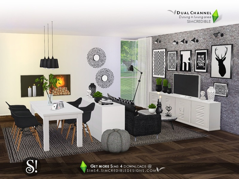 Simcredible 39 s dual channel for Dining room ideas sims 4