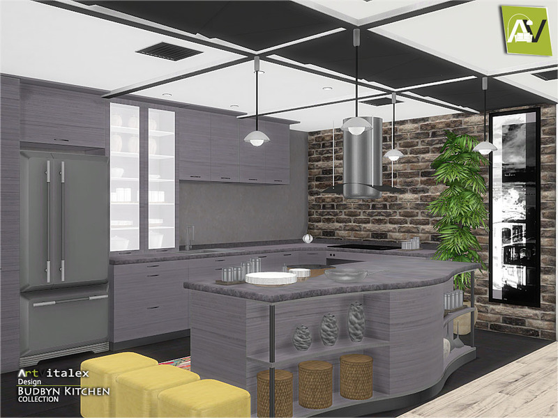Artvitalex 39 s budbyn kitchen for Kitchen set sims 4