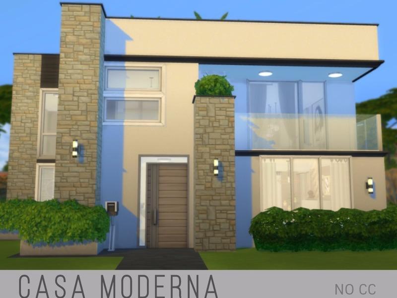 Kuri96 39 s casa moderna for Casas modernas sims 4 paso a paso