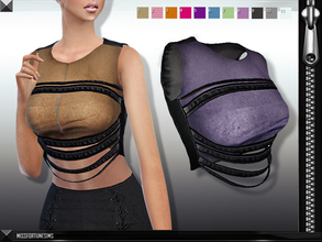 Sims 4 — MFS Cybelle Top by MissFortune — Standalone, custom thumbnail, 11 colors, NEW MESH