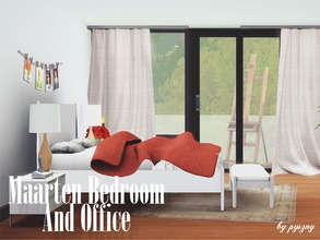 Sims 3 — Maarten Bedroom And Office  by pyszny16 — Maarten Bedroom & Office have elegant, scandinavian look
