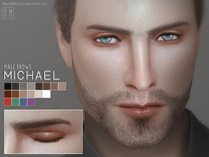 Sims 4 — [ Michael ] - Male Eyebrows by Screaming_Mustard — New male eyebrows for Sims. In 18 shades. For males , toddler
