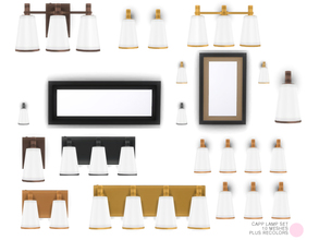 Sims 4 — Capp Lamp Set by DOT — Capp Lamp Set. 10 Contemporary and Modern Lights that include 5 recolors each. White,