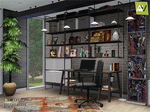 Sims 3 — Sorano Office by ArtVitalex — - Sorano Office - ArtVitalex@TSR, Aug 2017 - All objects are recolorable - Sorano