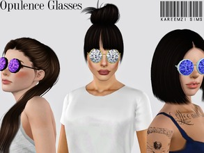 Sims 3 — Opulence Glasses by KareemZiSims2 — Give your lady sims a high end taste of eye wear! These glasses have a