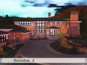 Sims 3 — Riverdale A by timi722 — Modern two-storey home, comfortable for a big family. Family members and guests can