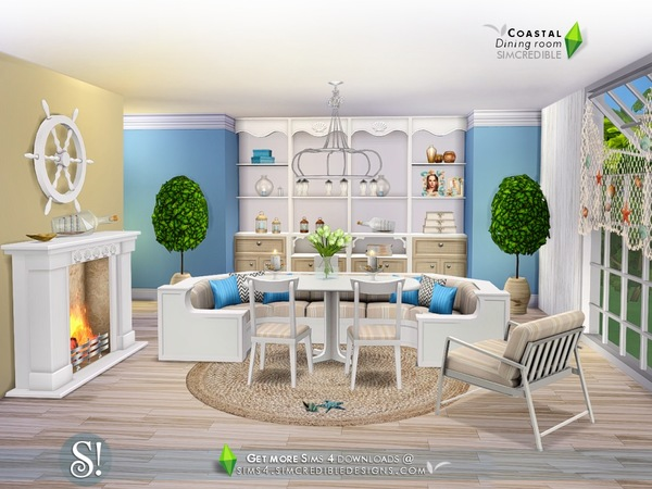 Simcredible S Coastal Dining Room