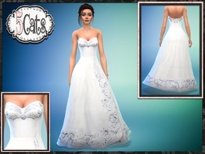 Sims Female Young Adult Party Wedding Dress