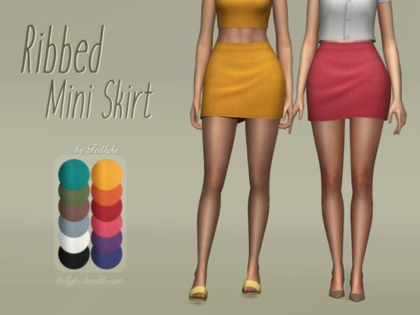 Trillyke   Ribbed Mini Skirt