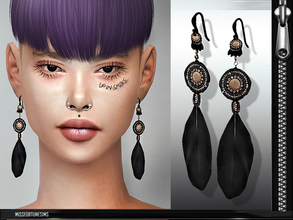 Sims 4 — MFS Sonia Earrings by MissFortune — 100% meshed by me - standalone - 1 color - custom thumbnail