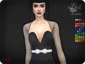Sims 4 — Belt 9 (original mesh) by Colores_Urbanos — 60 colors - Find the belt in gloves New mesh made by me - Your game