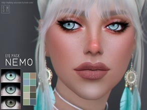 Sims 4 — [ Nemo ] - Eye Mask by Screaming_Mustard — A new eye mask. For males and females, child +. With custom thumb