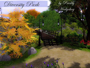 Sims 3 — Diversity Park by Prickly_Hedgehog — Nature lover? Angler? This is YOUR park of choice! This park is full of