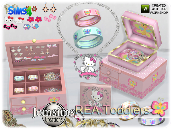 Rea toddlers deco jewelry box
