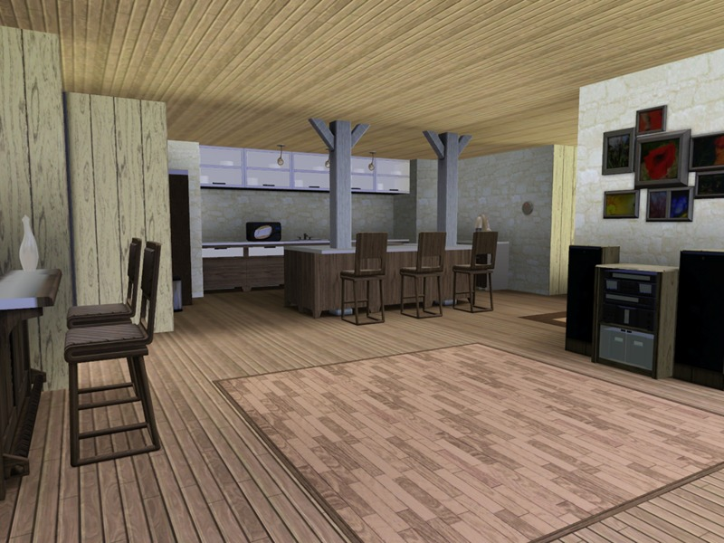 Wood beach house the sims 3 download simsdomination for Beach house 3 free download