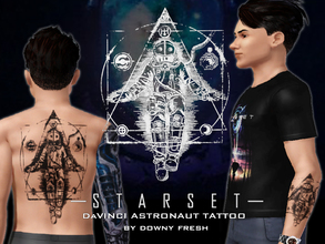 Sims 3 — Starset [DaVinci Astronaut V2] Tattoo by Downy Fresh by Downy Fresh — Starset Astronaut Artwork as a tattoo for