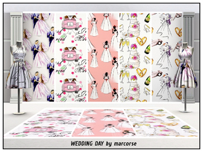 Sims 3 — Wedding Day_marcorse by marcorse — Five selected wedding day patterns - all are found in Themed. [if you don't