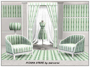 Sims 3 — Pyjama Stripe_marcorse by marcorse — Fabric pattern: broad pyjama stripe in soft sage green