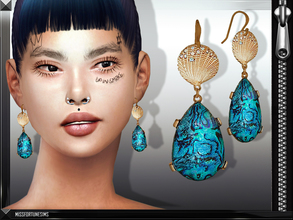 Sims 4 — MFS Darcy Earrings by MissFortune — Standalone - custom thumbnail - New mesh by me - 6 colors