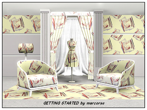 Sims 3 — Getting Started_marcorse by marcorse — Themed pattern: pencils and a scribble pad . . perfect time to start on