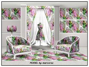 Sims 3 — Model_marcorse by marcorse — Themed pattern - model and colour wheel for sewingroom or design salon