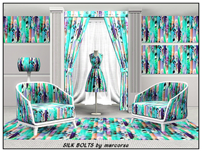 Sims 3 — Silk Bolts_marcorse by marcorse — Themed pattern - bolts of pretty printed silk for the sewingroom - fashion