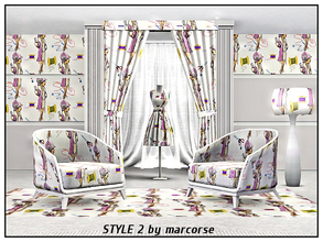 Sims 3 — Style 2_marcorse by marcorse — Themed pattern - model and dressmaking tools , threads and needles