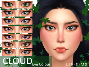 Sims 4 — Cloud Eye by LJP-Sims — -With 7 colours -For all age -With custom thumbnail -Make-up category face paint Note
