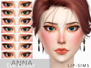 Sims 4 — Anna Eye by LJP-Sims — -with 7 colous -for all age -with custom thumbnail -make-up category face paint Note Hair