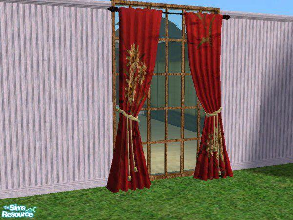Yggddrasil Red Asian Curtains Recolor